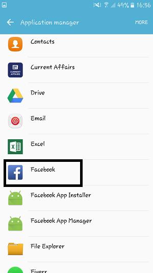 Find Facebook App