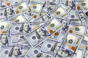 Hundred dollar bills for loans