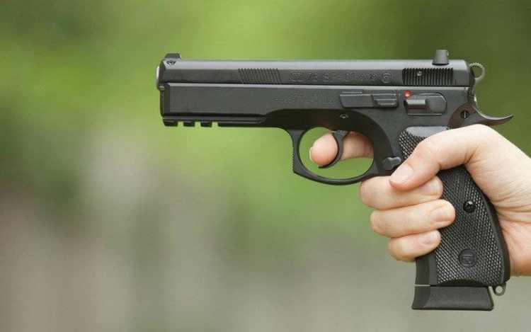 handgun firing